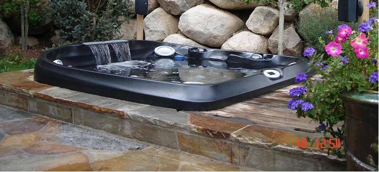 Aspen custom hot tub install