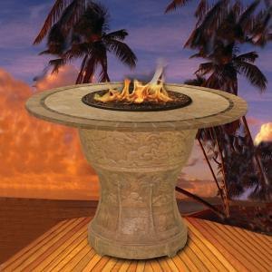 tall fire table basalt