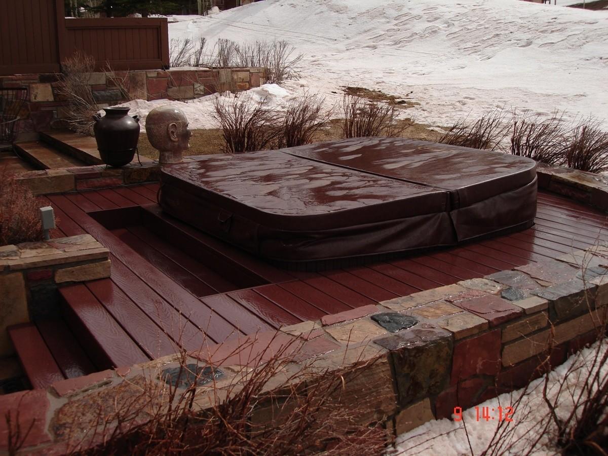 Aspen Custom Hot Tub Installation