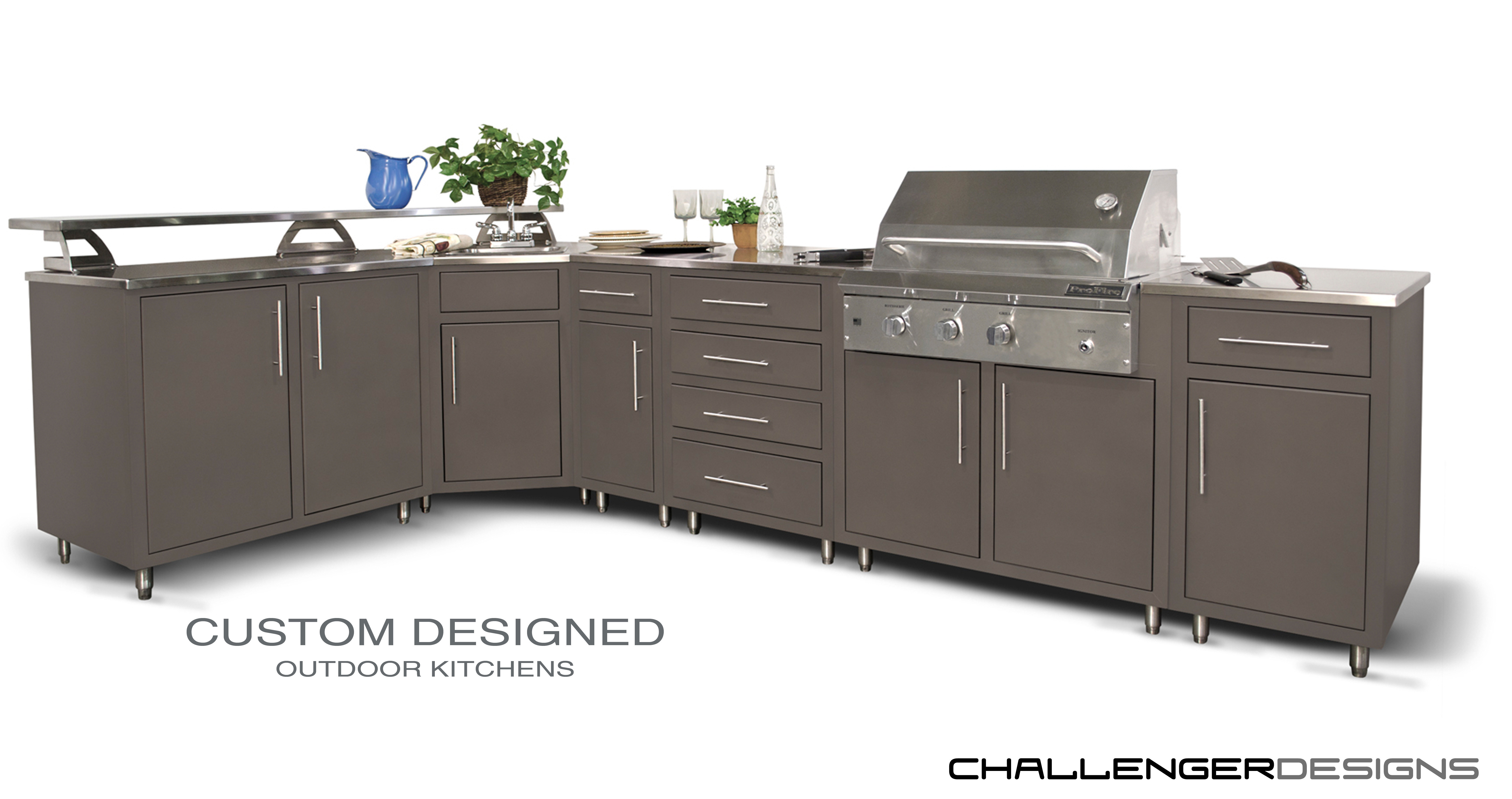 Challenger Designs Modular Outdoor Kitchen | Ajax Pool & Spa ...